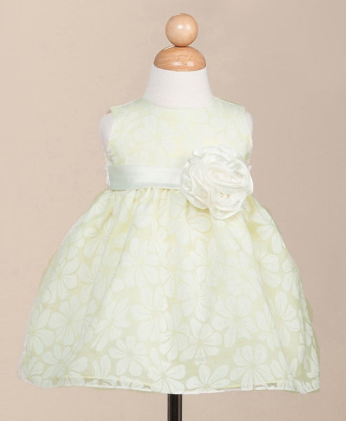 Crayon Kids Baby Girls' Apple Green Party Dress - Oasislync