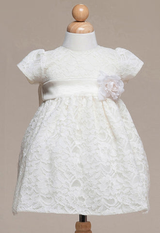 Crayon Kids Baby Girls' Ivory Lace Overlay Party Dress - Oasislync