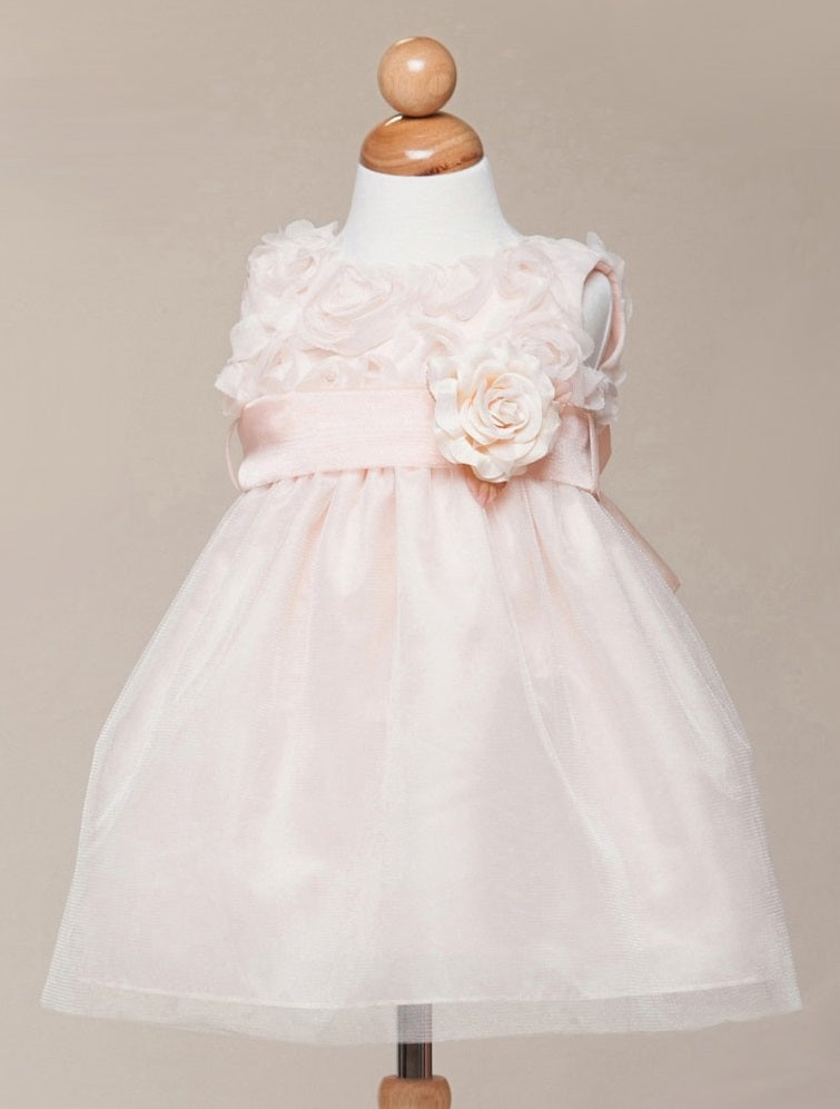 d628294a5889 Crayon Kids Baby Girls' Peach Floral Tulle Party Dress - Oasislync