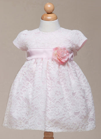 Crayon Kids Baby Girls' Pink Lace Overlay Party Dress - Oasislync