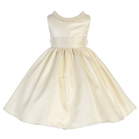 Crayon Kids Girls' Ivory Shimmer Party Dress - Oasislync