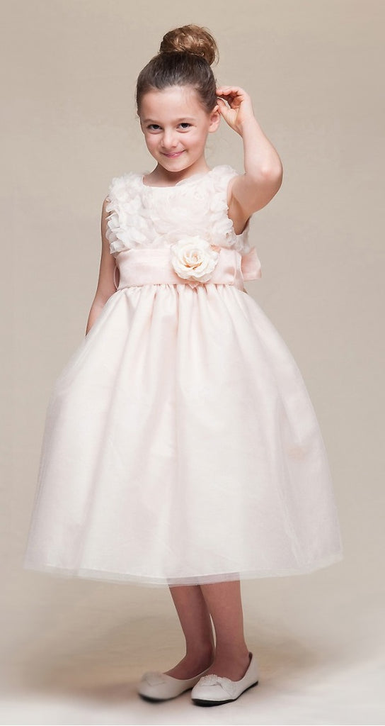 d1db17cb7 Crayon Kids Girls' Peach Floral Tulle Party Dress - Oasislync