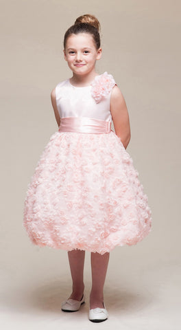 Crayon Kids Girls' Pink Bubble Flower Girl Party Dress - Oasislync