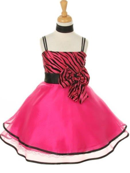 Girls' Pink Party Taffeta Dress with Scarf - Oasislync
