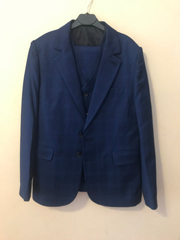 Boys 3 Piece Cobalt Blue Suit - Oasislync