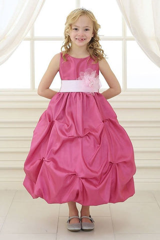 Girl Taffeta Bubble Dress in Pink - Oasislync
