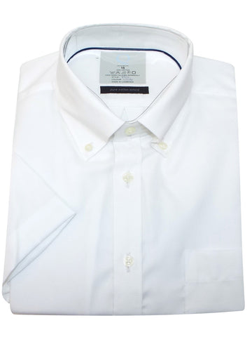 Classic Men's White Short Sleeve Oxford Dress Shirt - Oasislync