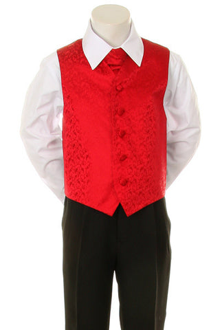 Boy s Formal Vest and Tie Set - Red - Oasislync 27ca89d12
