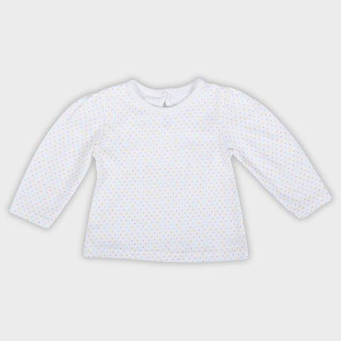 Baby Girls' White Top with Polka Dots - Oasislync