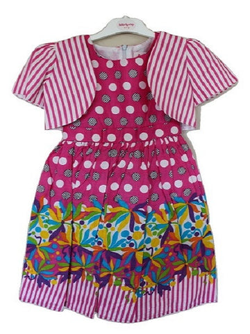 Beautiful Girls' Short Sleeve Butterfly Wings Dress with Jacket - Oasislync
