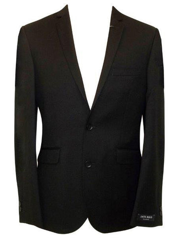 Black Single-Breasted 2 Button Blazer Jacket - Oasislync
