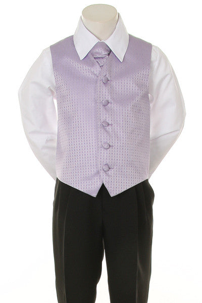 Boy's Formal Vest and Tie Set - Lilac - Oasislync