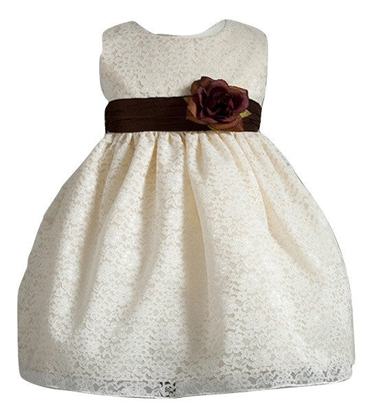 Crayon Kids Baby Girls' Ivory Dress - Oasislync