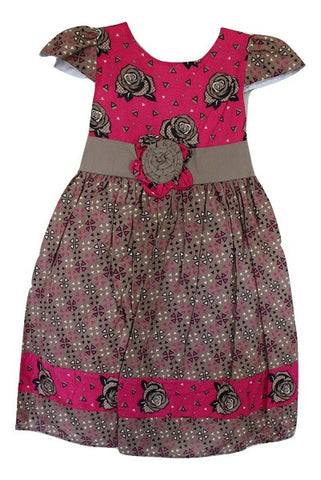 Girls Short Sleeve Butterfly Wings Dress - Oasislync
