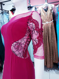 Pink Embroidered Party/Evening Wear - Oasislync