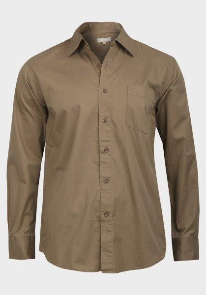 Tex Men's Camel Casual Button-Down Shirt - Oasislync
