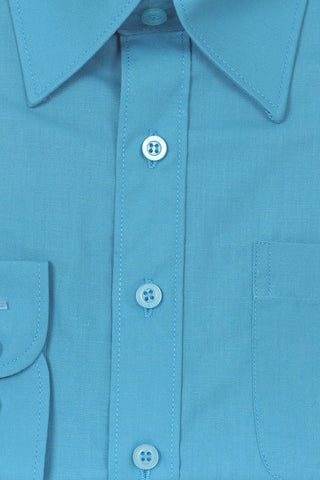Boys' Blue Formal Dress Shirt - Oasislync