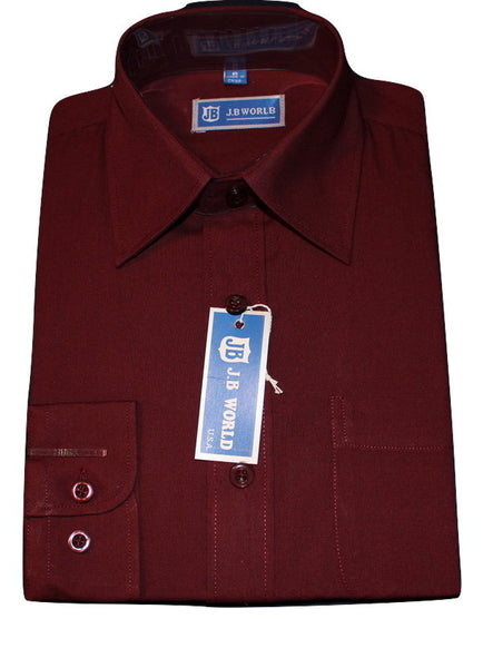 Boys' Burgundy Formal Dress Shirt - Oasislync