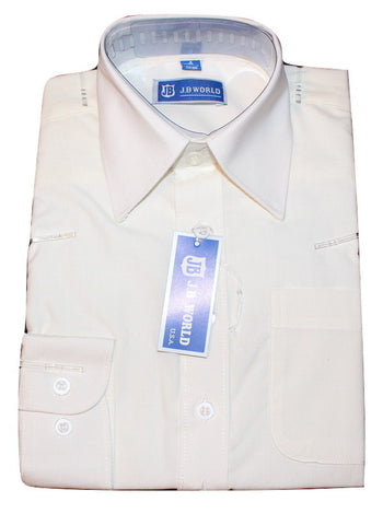 Boys' Ivory Formal Dress Shirt - Oasislync