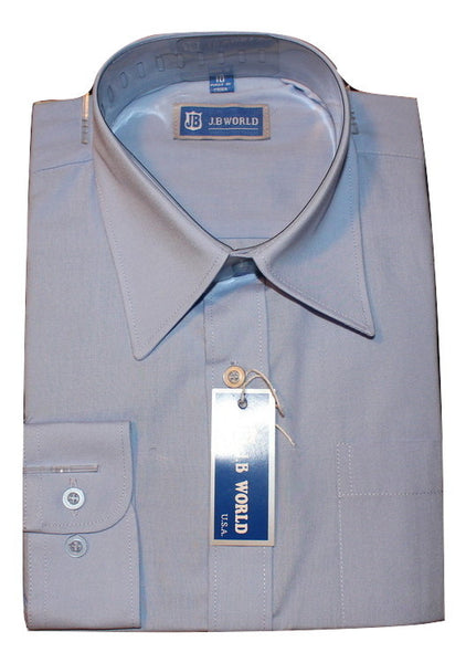 Boys' Light Blue Formal Dress Shirt - Oasislync