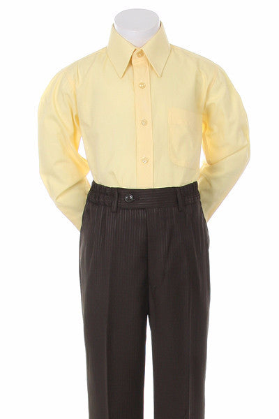 Boys' Yellow Formal Dress Shirt - Oasislync