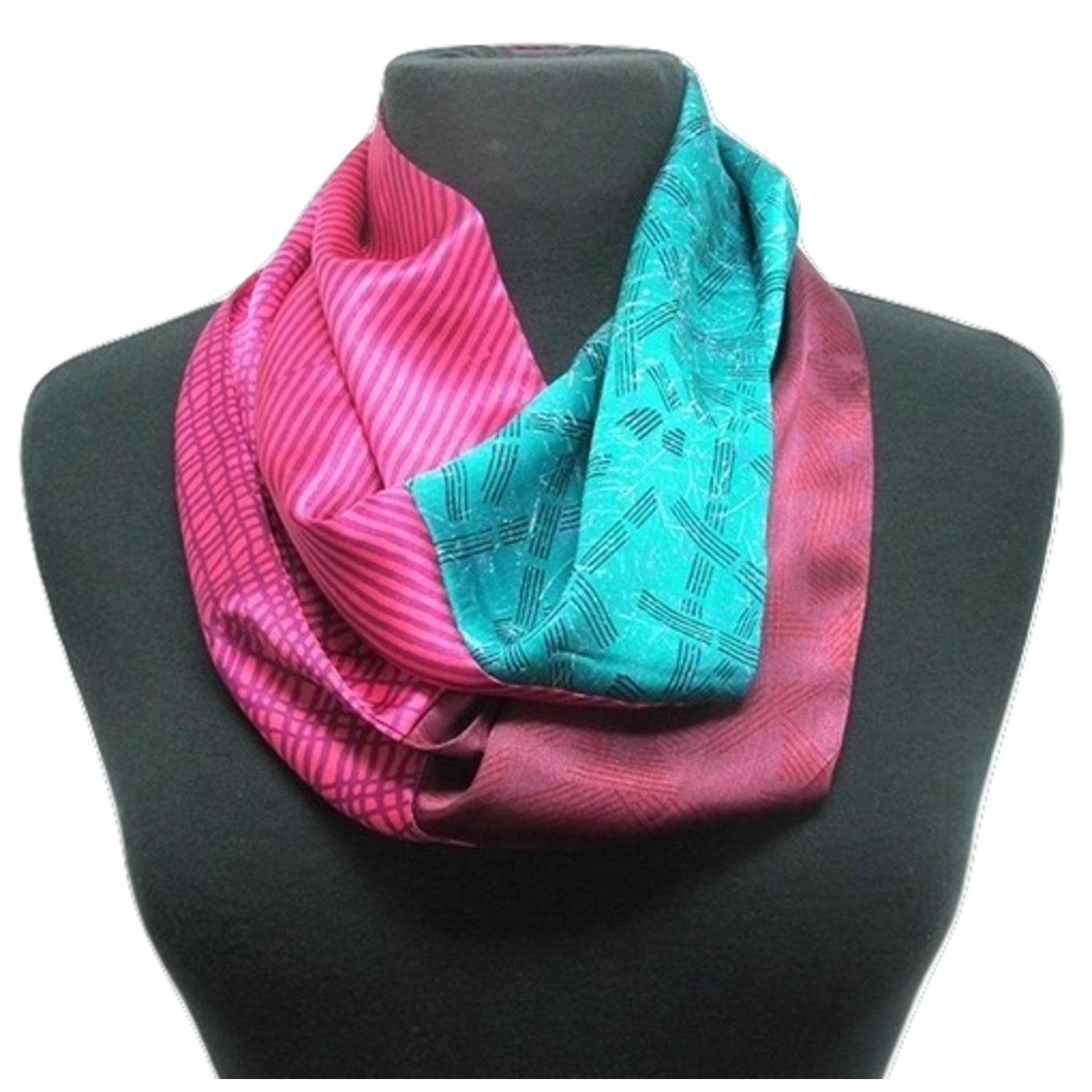 picture airy infinity womens coral pink lightweight crinkled loop s p of spectrum scarf soft