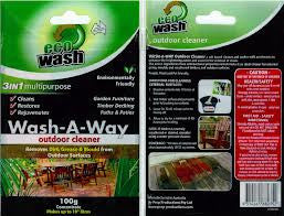 Ecowash Timber and Masonry Cleaner 100gm