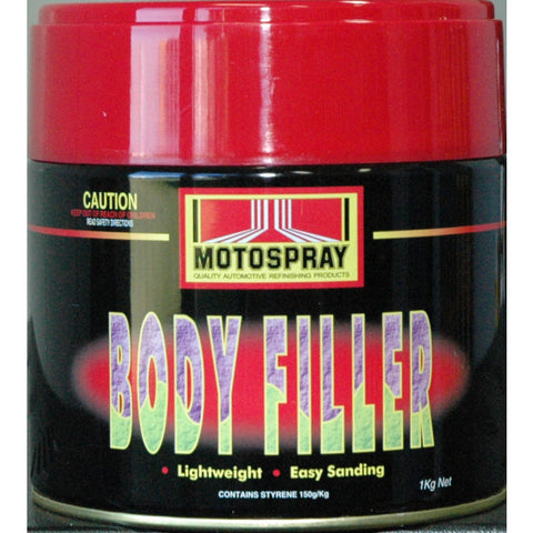 Motospray Lightweight Body Filler - 1KG
