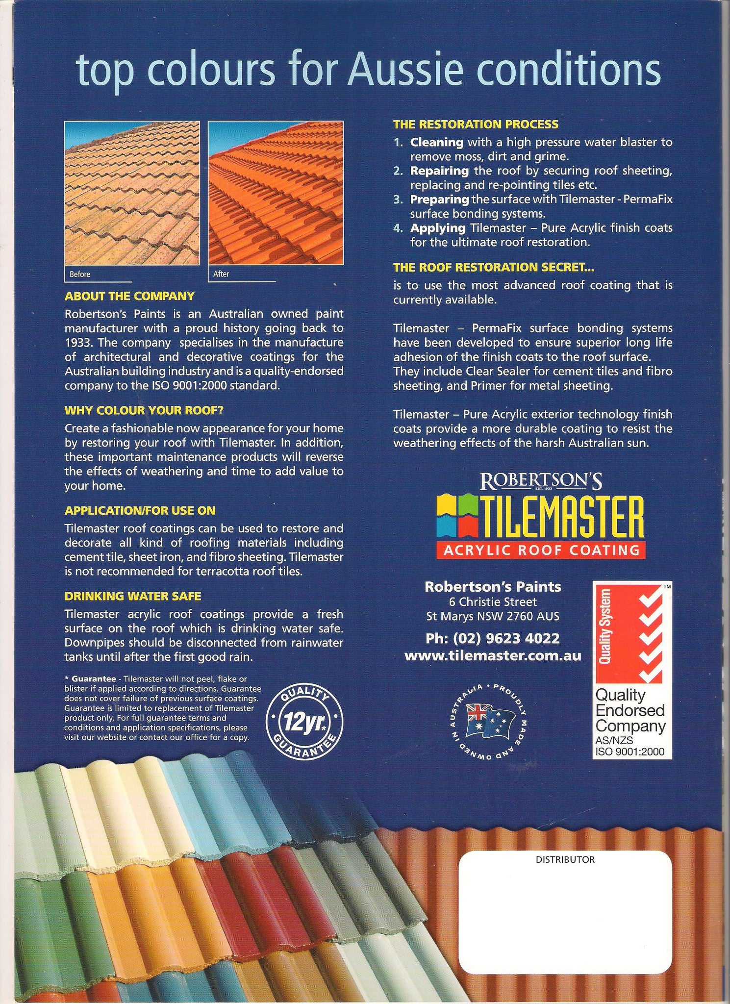 Tilemaster - Clear Sealer - Roof Coating