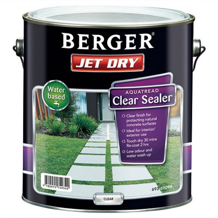 Berger Jet Dry Aquatread Clear Sealer - 10L