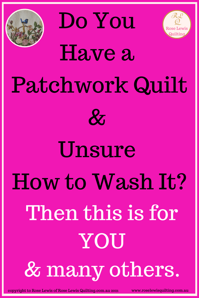 How to Wash n Block a Patchwork Quilt Part 1