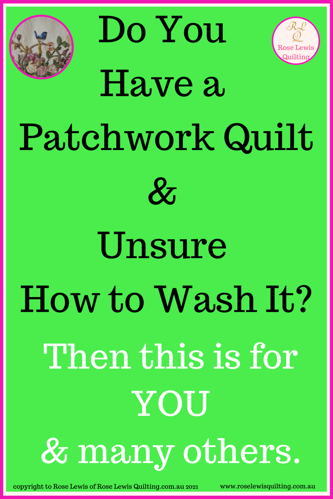 How to Wash n Block a Patchwork Quilt Part 3