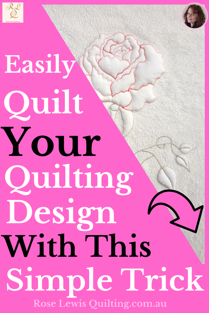 Easily quilt your quilting design with this simple trick