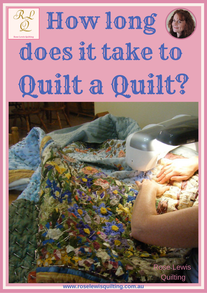 How long does it take to quilt a quilt?