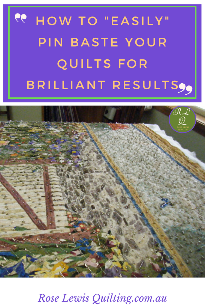 How to easily pin baste your quilt for brilliant results
