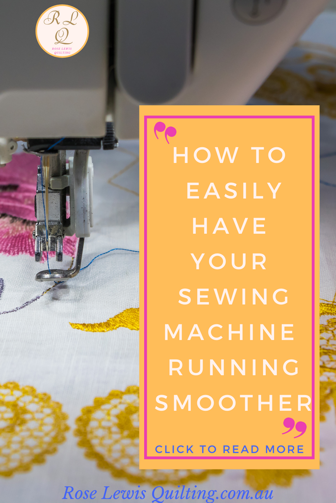 How to have your sewing machine running smoother