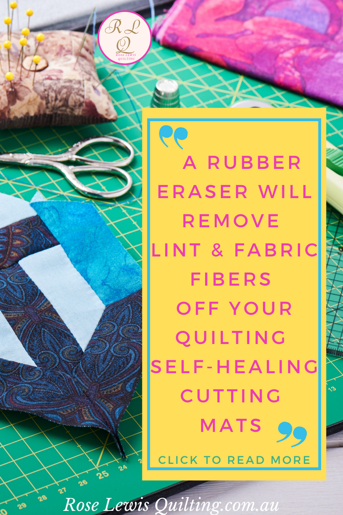 How to easily care for your quilting self-healing cutting mats