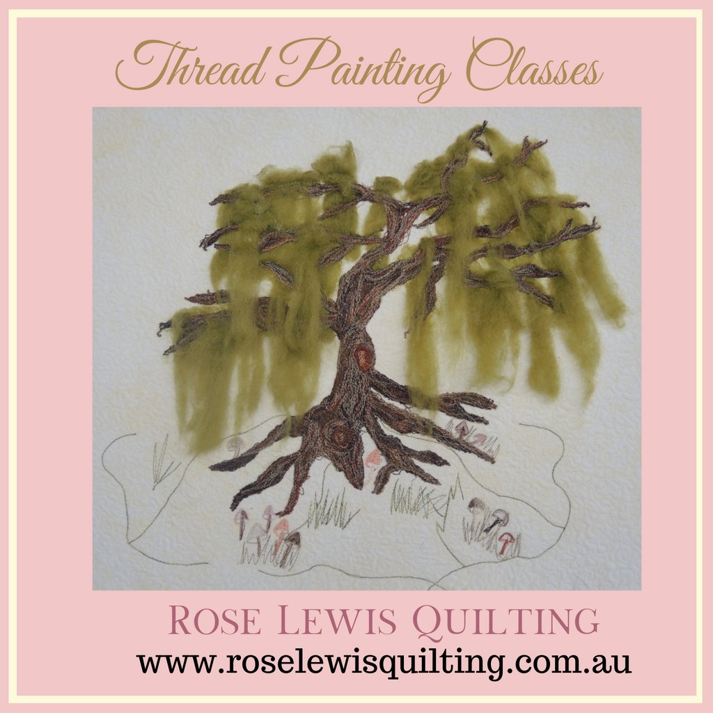 Thread Painting Class with Rose Lewis of Rose Lewis Quilting held at The Quilters Closet in Bunyip Vic Aust