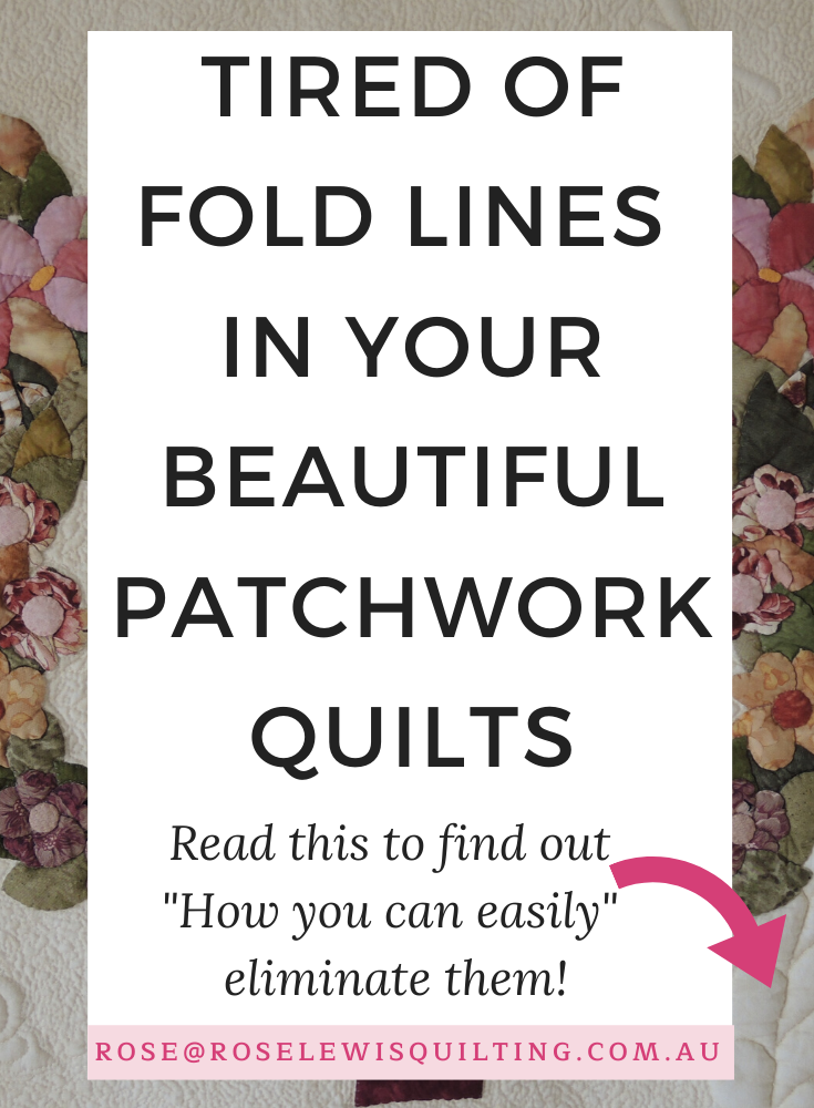 How to Fold a Patchwork Quilt, So You Don't Get Those Awful Fold Creases in Your Quilt