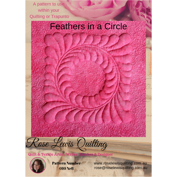 """Feathers in a Circle"" Quilting & Trapunto Patterns"