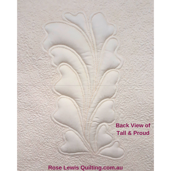 """Tall & Proud"" Quilting & Trapunto Pattern"