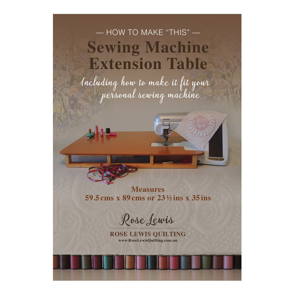 "How to Make 'THIS"" Sewing Machine Extension Table Including Pattern Sheets Paperback Book"