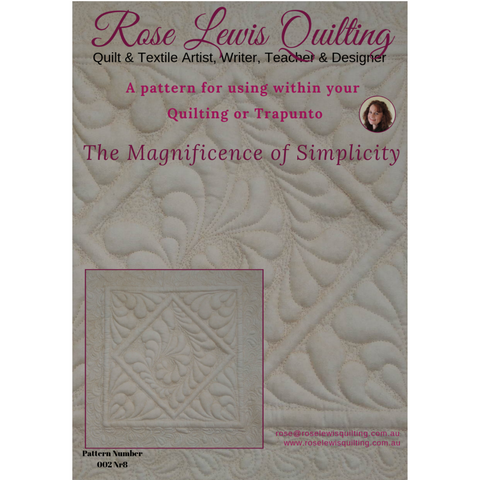 The Magnificence of Simplicity Quilting & Trapunto Patterns
