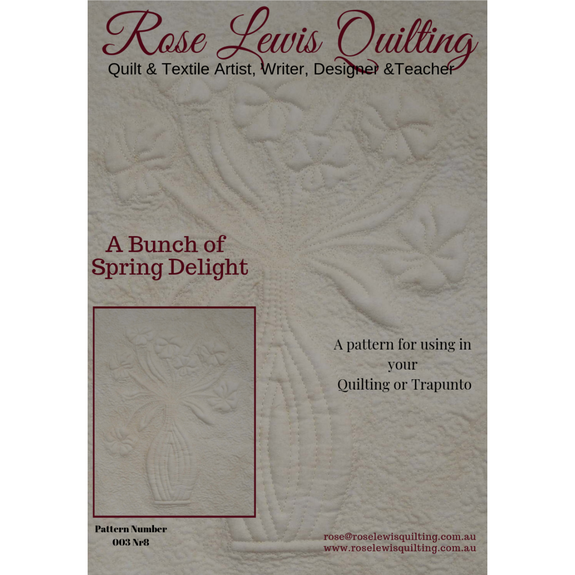 A Bunch of Spring Delight Quilting & Trapunto Patterns