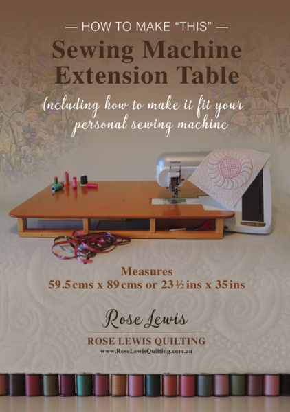 "How to Make a ""Sewing Machine Extension Table"" E-Pattern / Book"