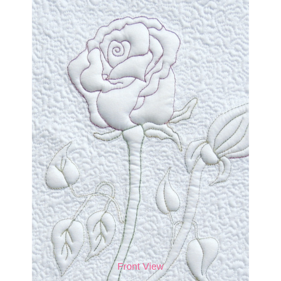 """The Beauty of a Rose"" Quilting & Trapunto Pattern"