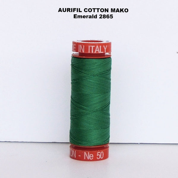Aurifil Cotton Mako Thread Emerald 2865