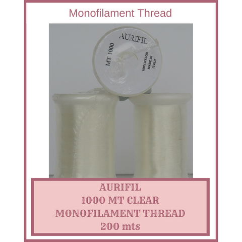 Monofilament Thread Aurifil Clear 1000 mts