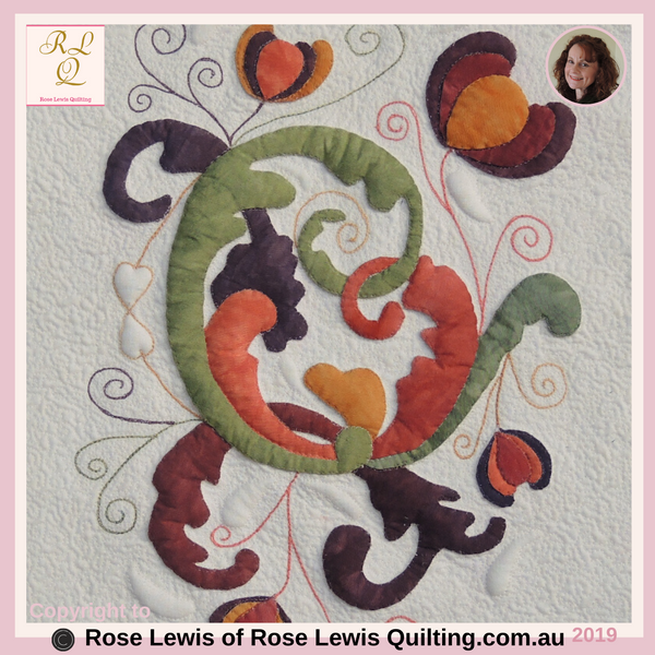 Applique & Trapunto Quilt - Rose Lewis Quilting
