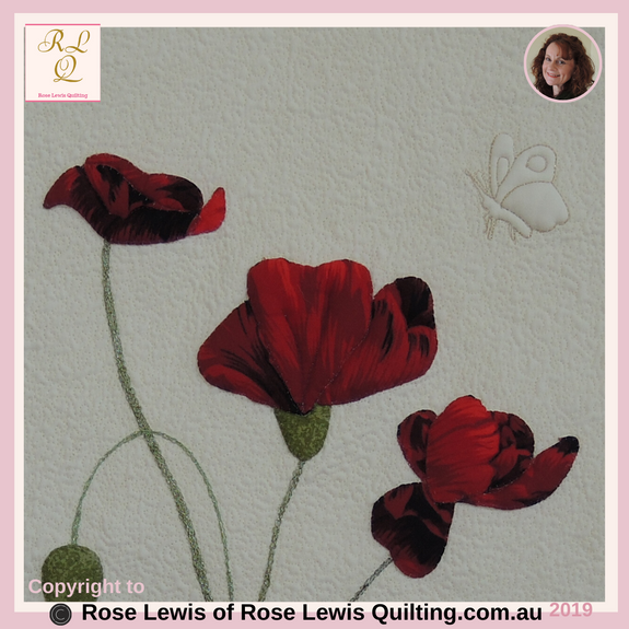 Applique & Trapunto Poppies